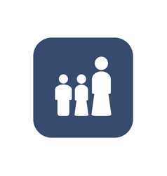 woman and her children icon set concept design vector image