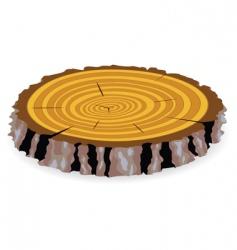 wooden cut vector image