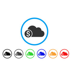 banking cloud rounded icon vector image vector image