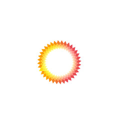 isolated pink and yellow color sun logotype vector image vector image