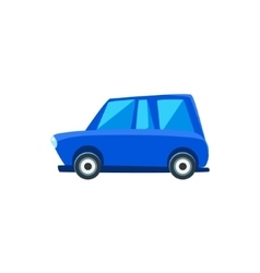 Blue Family Toy Cute Car Icon vector image vector image