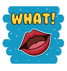 fashion lipss badges icon vector image
