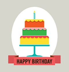 Happy Birthday Cake vector image vector image