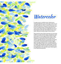 watercolor background with colorful spots vector image