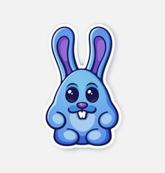 0648 sticker easter rabbit egg converted vector image