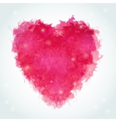 Abstract watercolor heart Ink vector