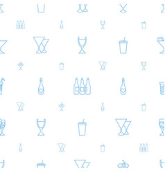 Alcohol icons pattern seamless white background vector
