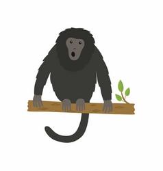 animal howler monkey vector image