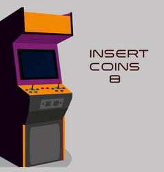 Arcade machine design vector