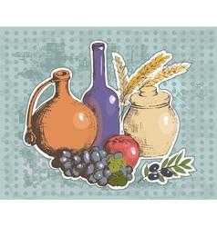 art vegetables8 vector image