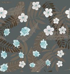 beautiful tropical seamless pattern with flowers vector image