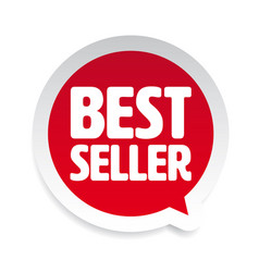 best seller label tag speech bubble vector image