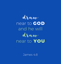 Biblical phrase from epistle of james 48 draw vector
