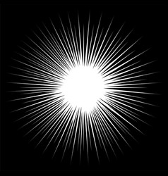 black and white rays vector image