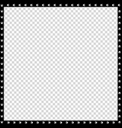 black and white square border made of animal paws vector image
