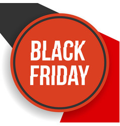 black friday banner with geometrical shapes vector image