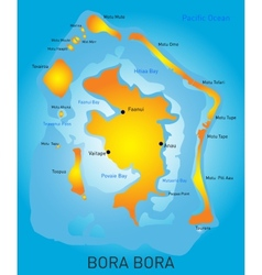 Bora Bora vector image