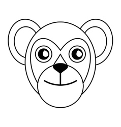 Breasted capuchin primate brazil fauna outline vector