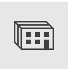 Building icon vector image