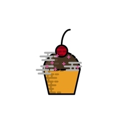 Cake flat icon vector image