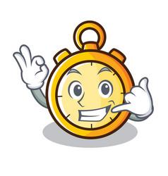 Call me chronometer character cartoon style vector