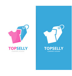 cloth and tag logo combination shirt vector image