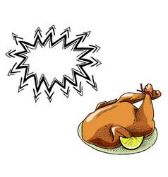 Cooked turkey-100 vector