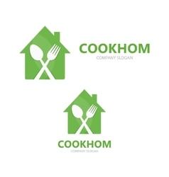 Cooking logo design template vector