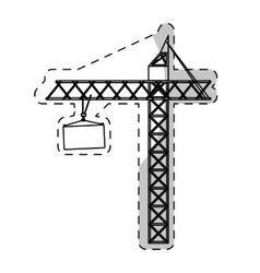 Crane machine icon vector