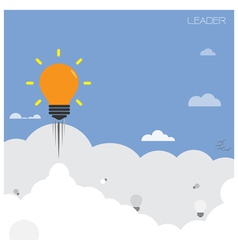 creative light bulb with blue sky background vector image