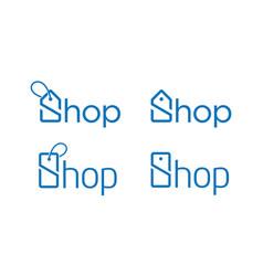 Creative shop for logo design concept vector