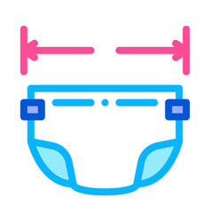 diaper size icon outline vector image