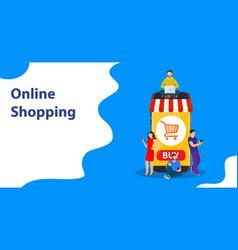 E-commerce cart concept vector
