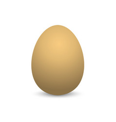egg realistic egg with shadow on empty background vector image