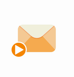 Email letter mail media message send video vector
