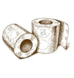 Engraving toilet paper vector