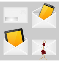 Envelopes with Smart Phone vector image