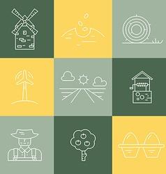 Farm Line Set vector image