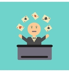 Flat icon on stylish background a poker man player vector
