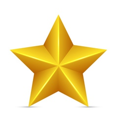 Glossy Yellow Star vector