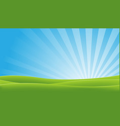 Green and blue landscape vector