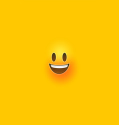 Happy yellow 3d emoticon face phone background vector