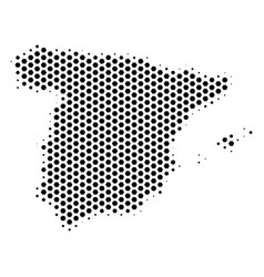 Hex tile spain map vector