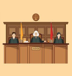 Isometric people judicial system set with three vector