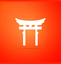 japan gate on orange background torii gate sign vector image