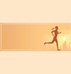 jogging action sport banner vector image