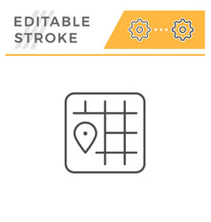 location editable stroke line icon vector image
