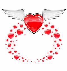 love heart symbol vector image