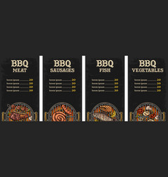 menu template barbecue grill vector image