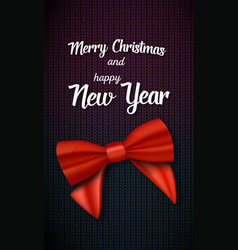 Merry christmas greeting card realistic red vector